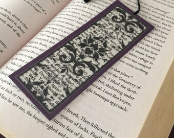 Damask Bookmark  - Purple