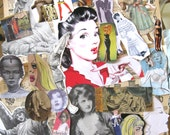 Ephemera.  Images of people for collages, decoupage, scrapbooking, whatever. Number 3. Tons of great stuff. Gift for artists.