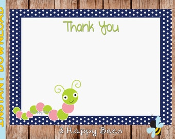 Inchy Thank you card. Instant download