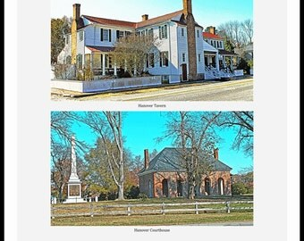 Hanover Courthouse & Hanover Tavern - Hanover VA - Art Photography Print or Gallery Wrapped Canvas by Richmond VA Photographer Dave Lynch