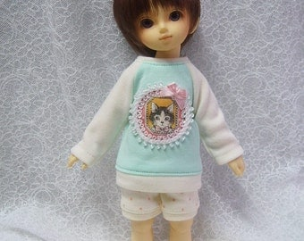 Super Dollfie Yo SD Littlefee Apple Green Sweater Set-  Kitty