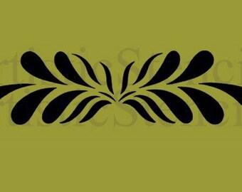 Flourish Scroll Stencil 10x2.5
