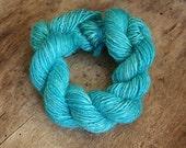 Handdyed and handspun tussah silk - Turquoise - 10gr 60m