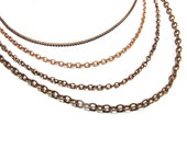 Copper Plated Brass Chain for Customized Necklace, Choker, Bracelet, Anklet Jewelry