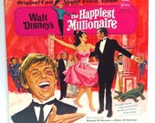 The Happiest Millionaire Album Cover Purse Custom Made Vintage Record Purse Walt Disney LP Album Handbag Tote