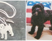 Custom TaGette Necklace Your Pet Pendant .. Sterling Silver Dog silhouette Jewelry Memoralize Keepsake, Memorial Gift