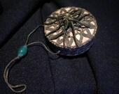 x Antique Reticule Victorian purse in Mauve with Gold Bullion metallic lace trims (FF052415-04)