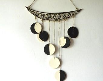 M O O N  P H A S E : handmade ceramic wall hanging