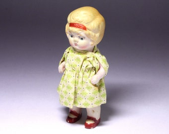 Vintage Penny Doll with Red Mary Jane Shoes -  circa 1920 's