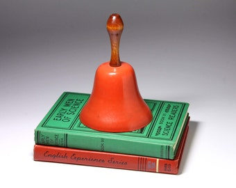 Vintage Red School Bell - circa 1950's