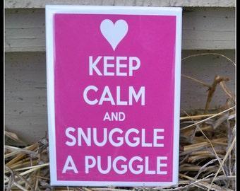 Snuggle a Puggle Magnet
