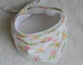 Floral Vintage Flannel Baby Bandana For Girls