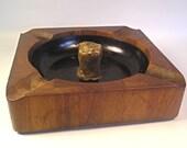 A Teak Wood Danish Modern Pipe Cigar Ashtray T22