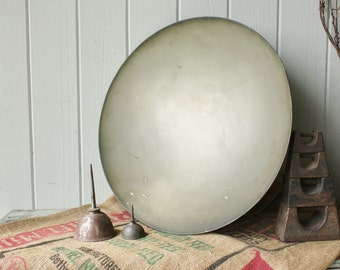 Large Antique Metal Reflector Science or Communications Dish Part for Steampunk