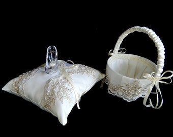 Rebecka's payment listing for Cinderella wedding ring bearer pillow and flower girl basket glass slipper .ring bearer  pillow