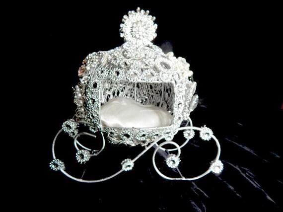 The Original Princess Ring Bearer Carriage Wedding Cake Topper