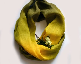 Green Tones Linen Scarf - Scarf For Spring - Fashion Scarves - Gift - Long Linen Scarf - Fashion Accessories - Pistachio Green Scarf