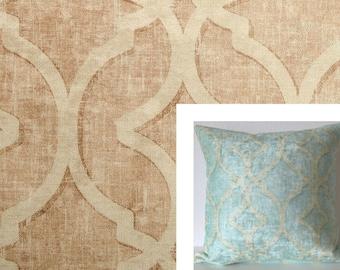 Nuri Tea Stain lattice distressed velvet decorative pillow cover