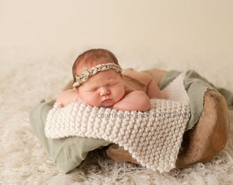 Baby Blanket - Newborn Photo Prop