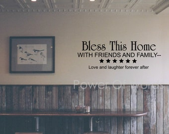 Bless This Home ~Vinyl Wall Art Decal~