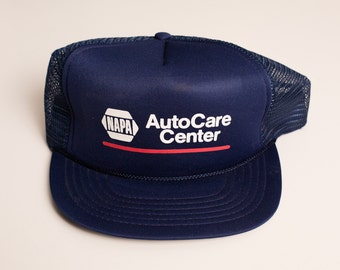 Vintage NAPA AutoCare Center Snapback Trucker Hat, Car Parts Company