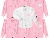 Bridal Party Shirts - Set of 7 - Monogram Button Down Oxford Shirt - Monogram Button Up Shirt