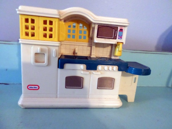 Vintage 1990 S Little Tikes Dollhouse Kitchen Victorian