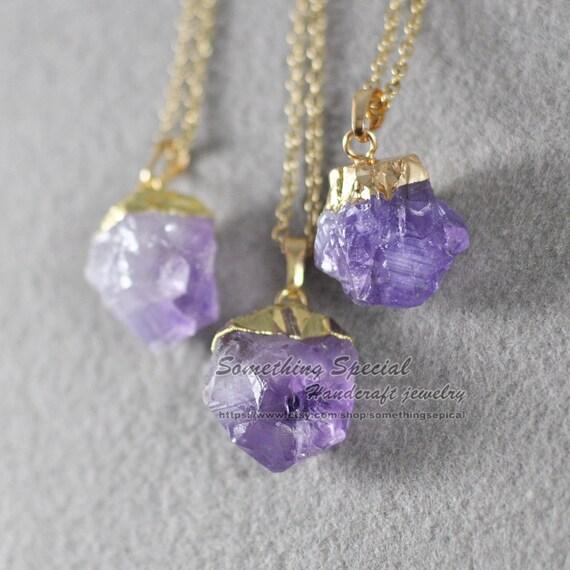 Amethyst necklace Raw ...