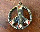 Vintage 1969 Peace Sign Necklace by the Terra Sancta Guild