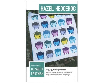 Elizabeth Hartman Hazel Hedgehog Quilt Pattern Hedgehogs Instructions