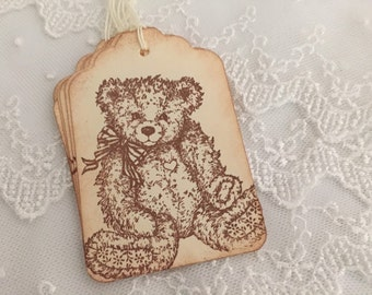 Teddy Bear Tags Baby Shower Favor Gift Tags