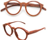 Sale - 10% off defective THANKS handmade round TAKEMOTO rosewood glasses
