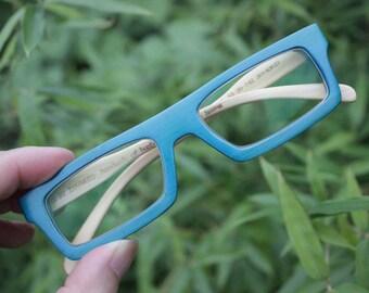 Turquoise handmade  square  bamboo  eyeglasses  1201 C0701