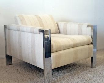 Mid Century Modern Chrome Lounge Chair