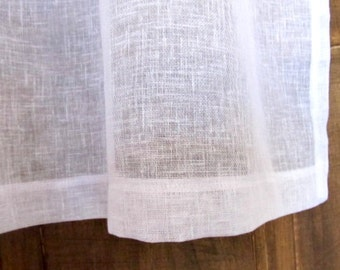 White Natural Ivory Curtain , Linen Window Curtain, Lounge Curtain, Sheer Drapery, New Home Decor