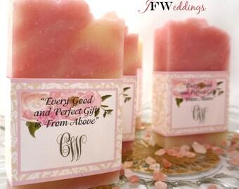 80 Soap Favors - Wedding Soap Favors - Bridal Shower Favor - Handmade Soap - Soap Favors -  Baby Shower Favor - Vegan - Favours - Savon