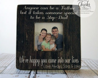 Stepdad Picture Frame, Father's Day Gift, Stepdad Personalized Frame, Dad Picture Frame, Father Gift