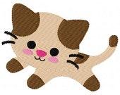 Snip the Kitty Cat Machine Embroidery Single Design Joyful Stitches Instant Download // Joyful Stitches