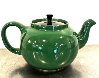 vintage green teapot - 1950s-60s mid century kettle