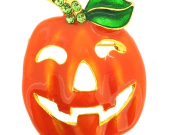 Pumpkin Halloween Brooch Pin And Pendant 1013122
