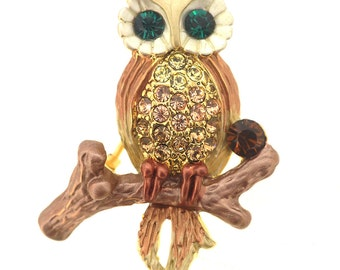 Brown Owl Pin Brooch 1013192