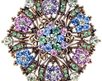 Colorized Crystal Flower Wedding Brooch/Pendant 1000951