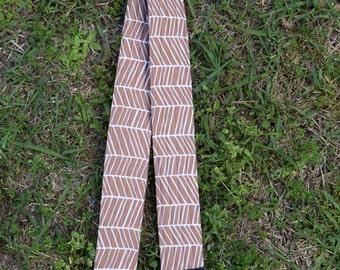 CAMERA STRAP in Brown Herringbone