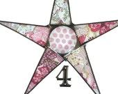 Polka Poppy 9 inch polka dots and flowers