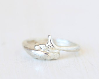 Vintage Silver Twig Branch Ring // size 7  // everyday jewelry