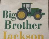Big Brother Kit Bag Tote with Green and Yellow Tractor and Child's Name