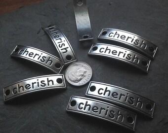 """8 """"cherish"""" Bracelet Blanks, Cherish Pendants - FAST SHIPPING"""