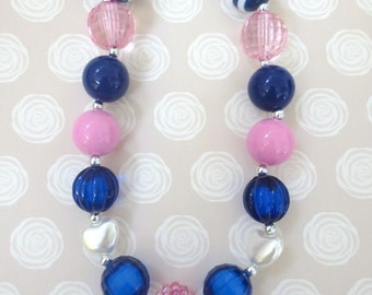Toddler Chunky Necklace, Little Girl Bubblegum Necklace, Children Necklace, Girl Chunky Necklace, Chunky Bead Necklace, Baby Chunky Necklace
