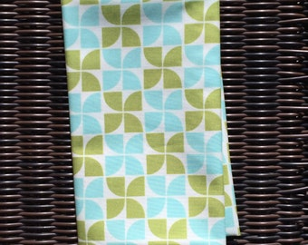 Marmalade Bonnie & Camille pinwheel aqua leaf moda fabric FQ or more