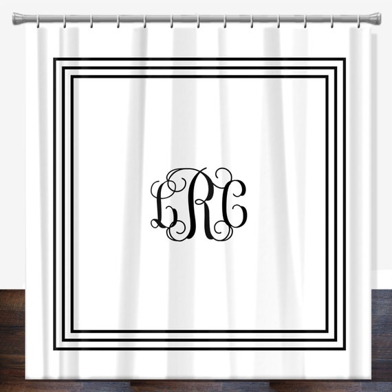 shower curtain monogrammed personalized shower curtain custom shower